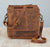 Buffalo Leather Portrait Messenger Bag