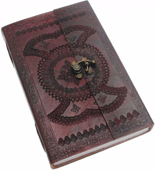 X-Large Embossed Leather Journal with Clasp