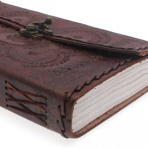 Medium Embossed Leather Journal with Clasp