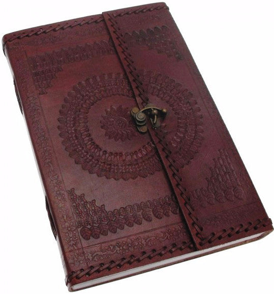 Hefty Embossed Leather Journal with Clasp