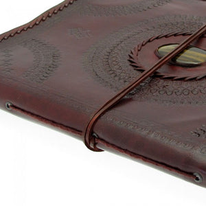 X-Large Embossed Leather Album with Gemstone
