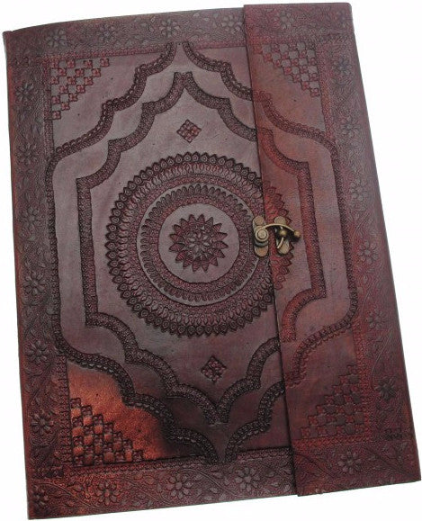 X-Large Embossed Leather Album with Clasp