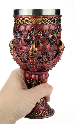 Burgundy Skull & Claw Goblet -- DragonSpace