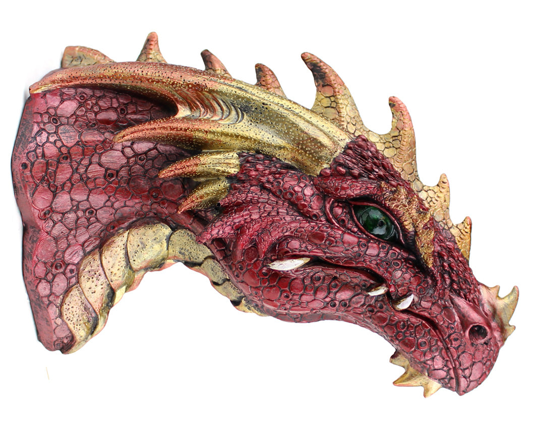 Ruby Dragon Wall Plaque