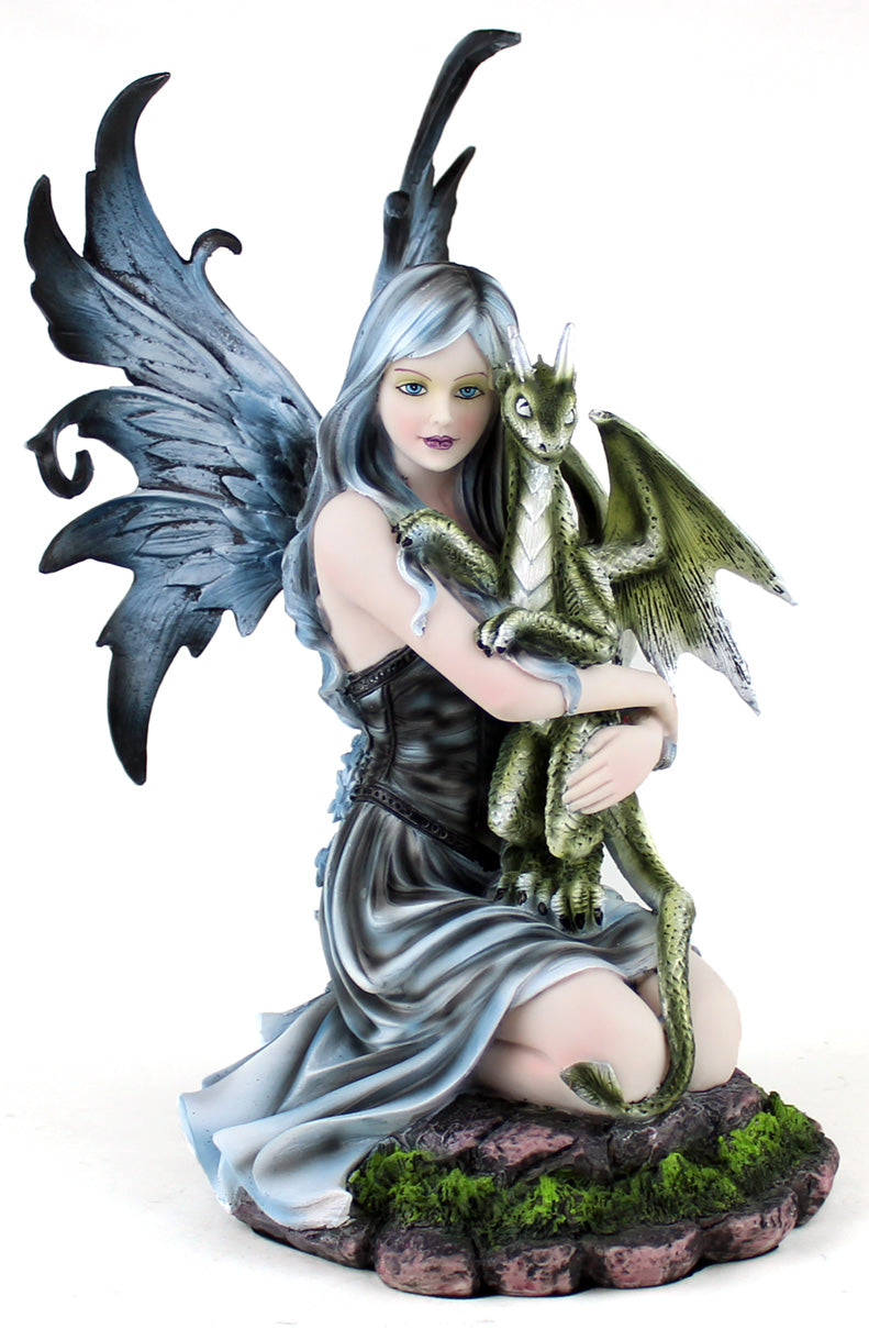 Fairy Hugging Baby Dragon