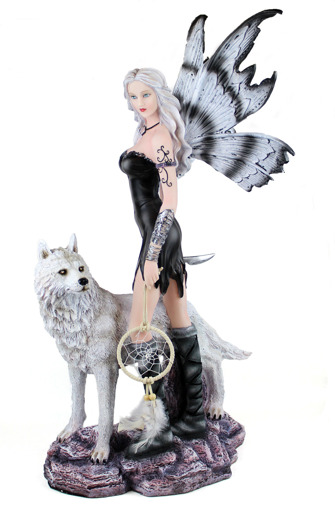 Huntress Fairy with Wolf