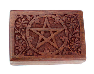 Engraved Pentacle Box -- DragonSpace