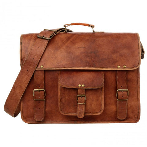Extra Large Brown Leather Satchel