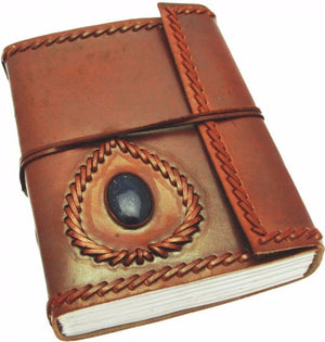 Large Leather Journal with Gemstone