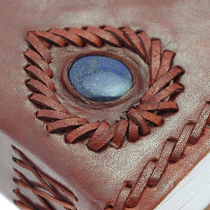 Mini Leather Journal with Gemstone
