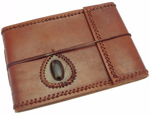 Medium Leather Album with Gemstone
