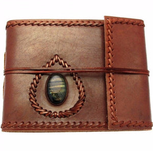 Small Leather Album with Gemstone -- DragonSpace