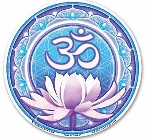 Om Lotus Window Sticker