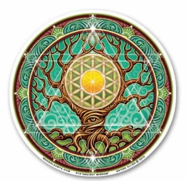 Ancient Wisdom Tree Window Sticker