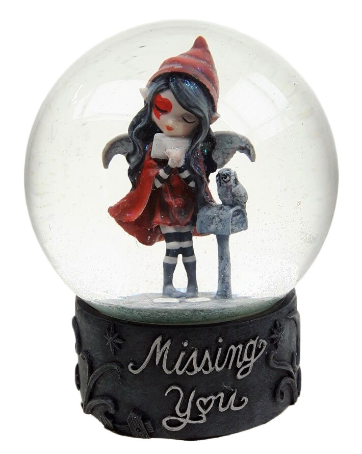 """Missing You"" Waterglobe Fairy -- DragonSpace"