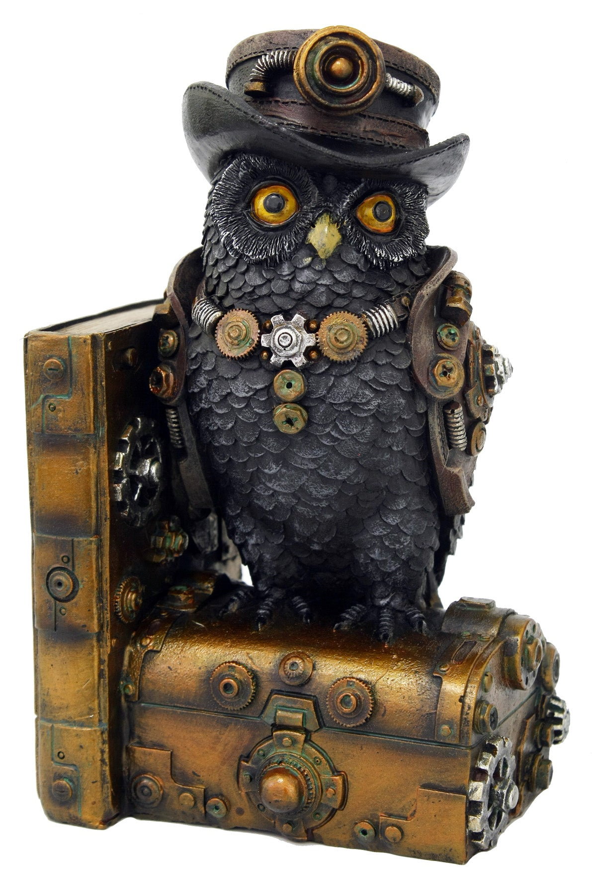 Steampunk Bookend - Owl (Right)