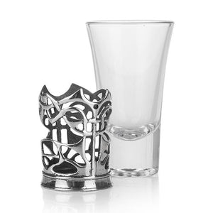 Enamel Dot Shot Glass