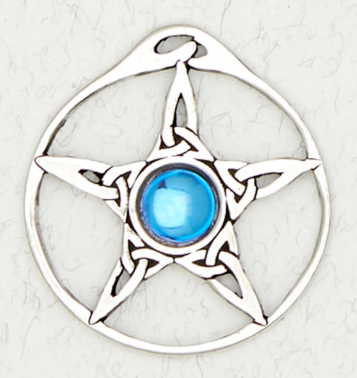 Pentacle Trinity Knot Necklace