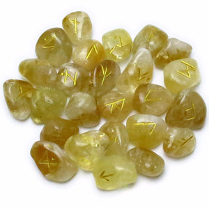 Citrine Rune Set -- DragonSpace