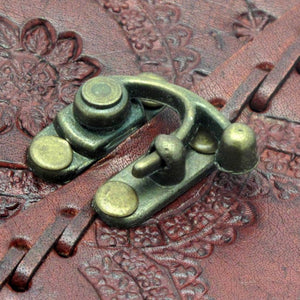 A4 Embossed Leather Journal with Clasp -- DragonSpace