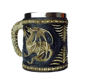 Skeleton Dragon Mug -- DragonSpace