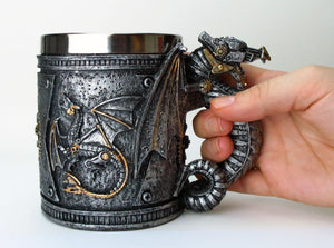 Steampunk Dragon Mug -- DragonSpace