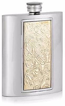 Luxury Brass Insert Celtic Flask