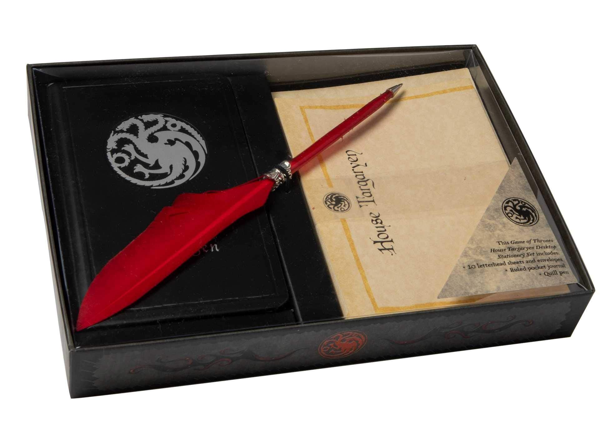 Game of Thrones: House Targaryen Stationery Set (With Pen)