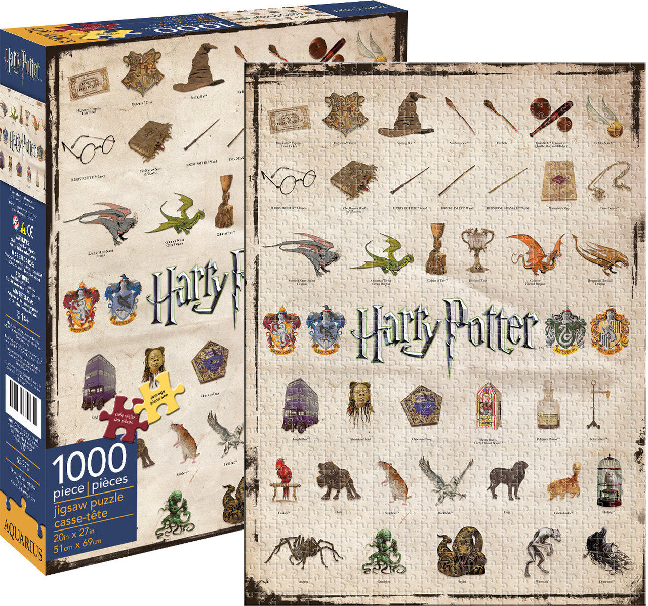 Harry Potter Icons Puzzle (1000 pieces)