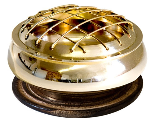 Brass Screen Charcoal Burner -- DragonSpace