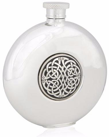 Neverending Knot Round Flask