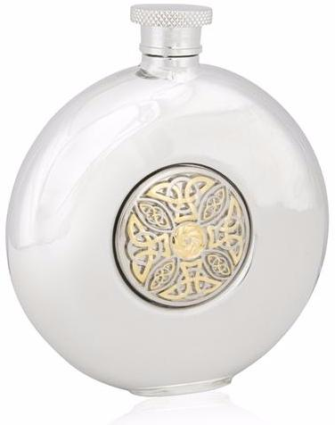 Celtic Knot Two Tone Round Flask -- DragonSpace