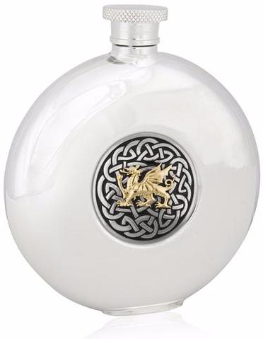 Celtic Dragon Round Flask -- DragonSpace