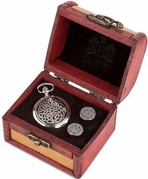 Pocket Watch & Cufflinks Trunk Set (Neverending Knot)