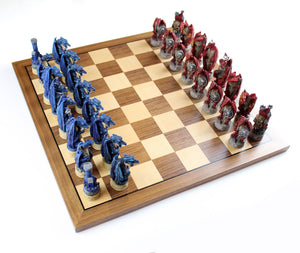 Justice vs. Evil Dragons Chess Pieces