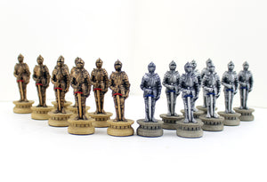 Knights in Armor Chess Pieces
