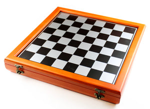 Cherry Stained Chess Chest -- DragonSpace