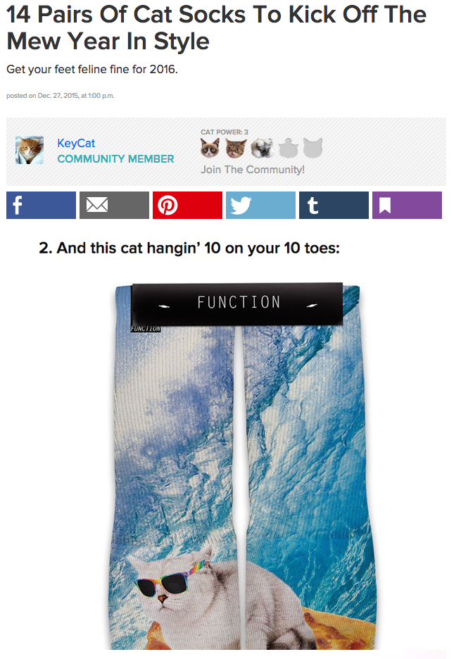 We made it on to a Buzzfeed List!