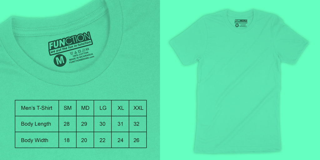 Function sock size guide mens t shirt