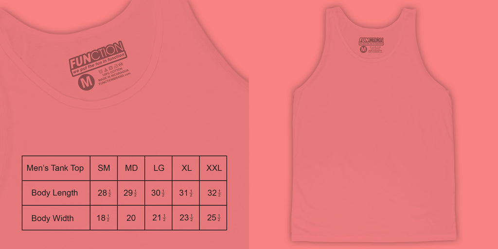 Function sock size guide mens tank top