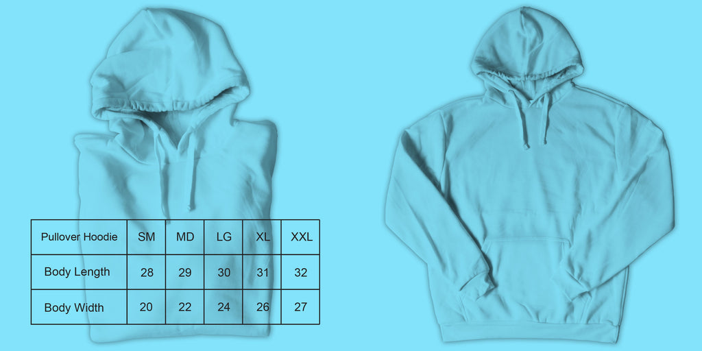 Function sock size guide pullover hoodie