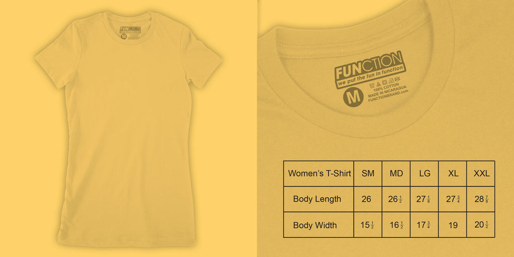 Function sock size guide womens t shirt