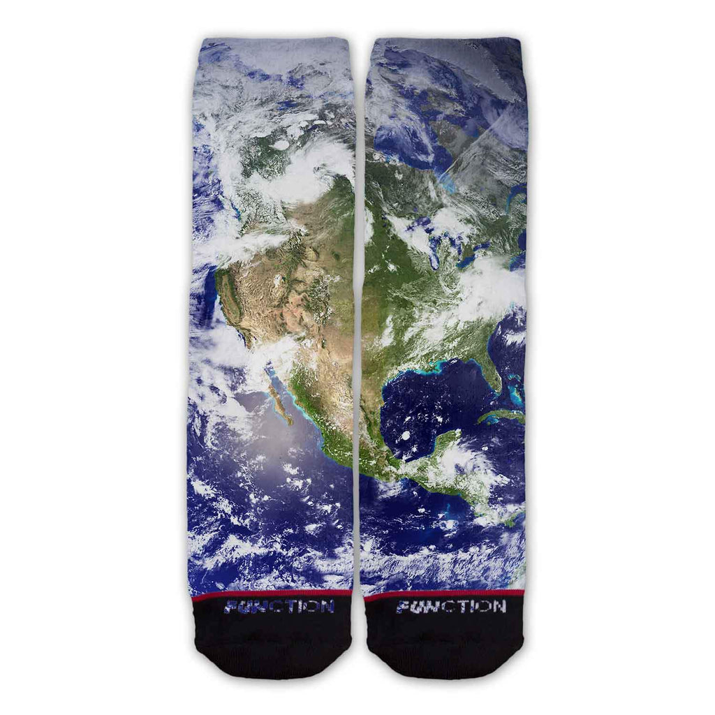 Function - Earth Solar System Astronomy Fashion Socks