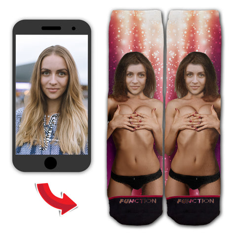 Custom Woman in Bikini Fashion Sock