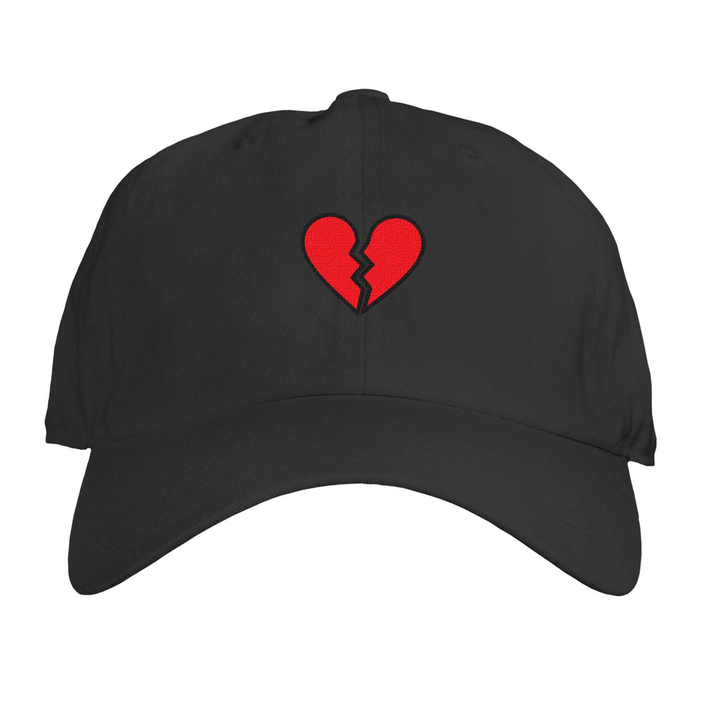 Function - Broken Heart Embroidered Dad Hat