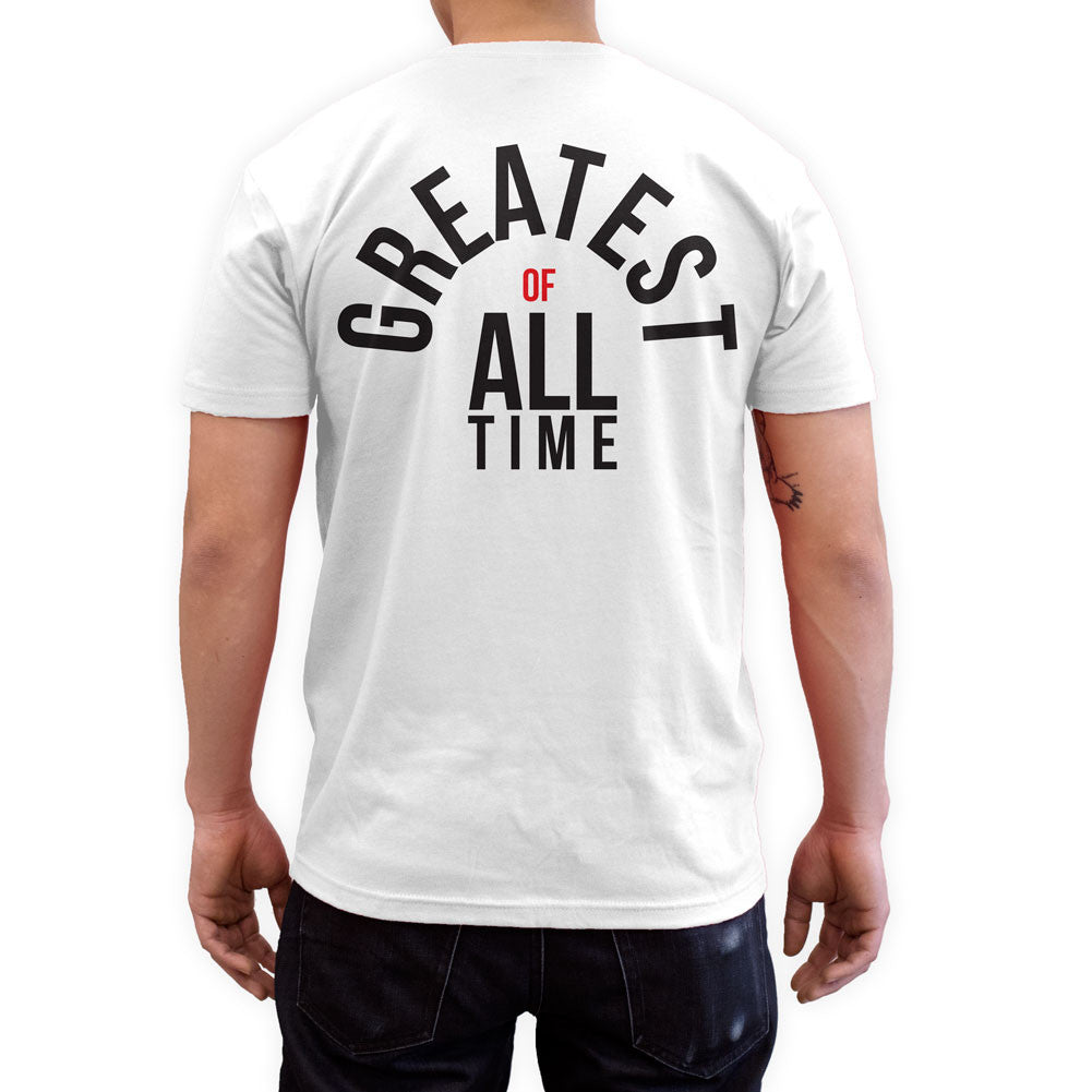 Greatest Of All Time White Fashion T Shirt