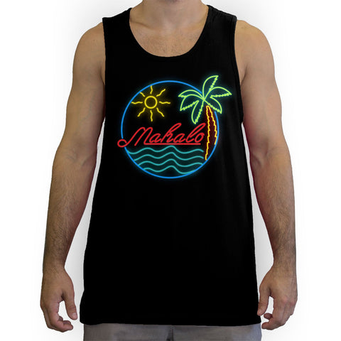 Function - Mahalo Neon Lights Men's Fashion Tank Top Black