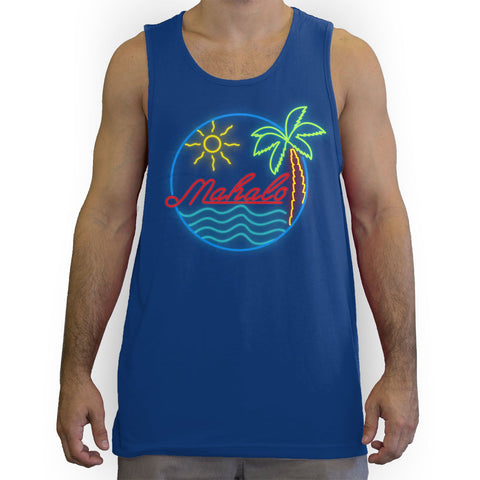 Function - Mahalo Neon Lights Men's Fashion Tank Top Royal Blue