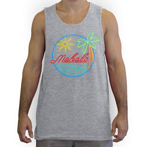 Function - Mahalo Neon Lights Men's Fashion Tank Top Heather Grey