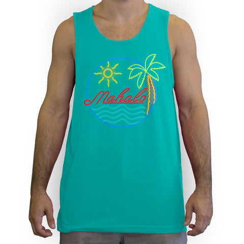 Function - Mahalo Neon Lights Men's Fashion Tank Top Teal